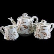English Aesthetic Transferware Tea Set - 1877