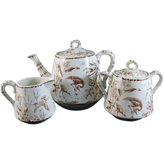 English Aesthetic Transferware Tea Set - 1877