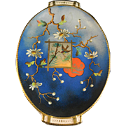Stunning Victorian Aesthetic Movement Japonisme Oval Bowl - ca. 1870-80