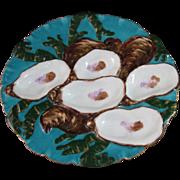 Victorian Haviland Limoges Porcelain 5-Well Turkey Oyster Plate #1 - ca. 1879-1883