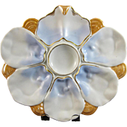 19th Century / Victorian European Porcelain Oyster Plate - 1870-80s (30% OFF)