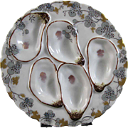 Victorian  5-well Haviland & Co., Limoges, Oyster Plate ca. 1876 - 1889 -25% OFF