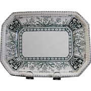 English Victorian Transferware Small Serving Platter - 1888