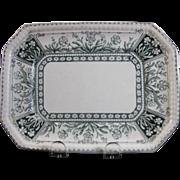 English Victorian Transferware Small Serving Platter - 1888