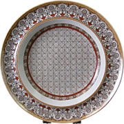 Aesthetic Brown Transferware Soup Plate - Albany 1879