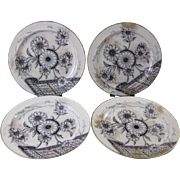Set/4 English Victorian Transferware Plates - Doulton 1881
