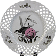 Aesthetic Movement Minton Plate - Birds 1879