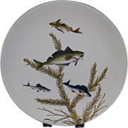 English Victorian Fish Plate  #1 - Bodley - ca. 1880s