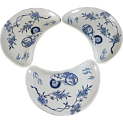 Three Unusual Doulton Aesthetic Transferware Plates 1882