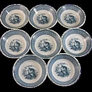 Set / 8 Victorian Wedgwood Berry Bowls  - 1883