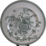 Large Aesthetic Transferware Plate - 1884