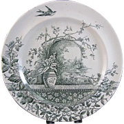 English Victorian Staffordshire Plate - Rustic
