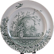 English Victorian Staffordshire Plates - Rustic 1886