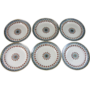 Set/6 English Victorian Transferware Plates - Copeland Denmark 1880