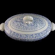 English Victorian Transferware Tureen - Shells - Saragossa 1883
