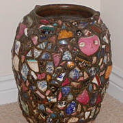 Vase. Decorative vase. Chipware vase.