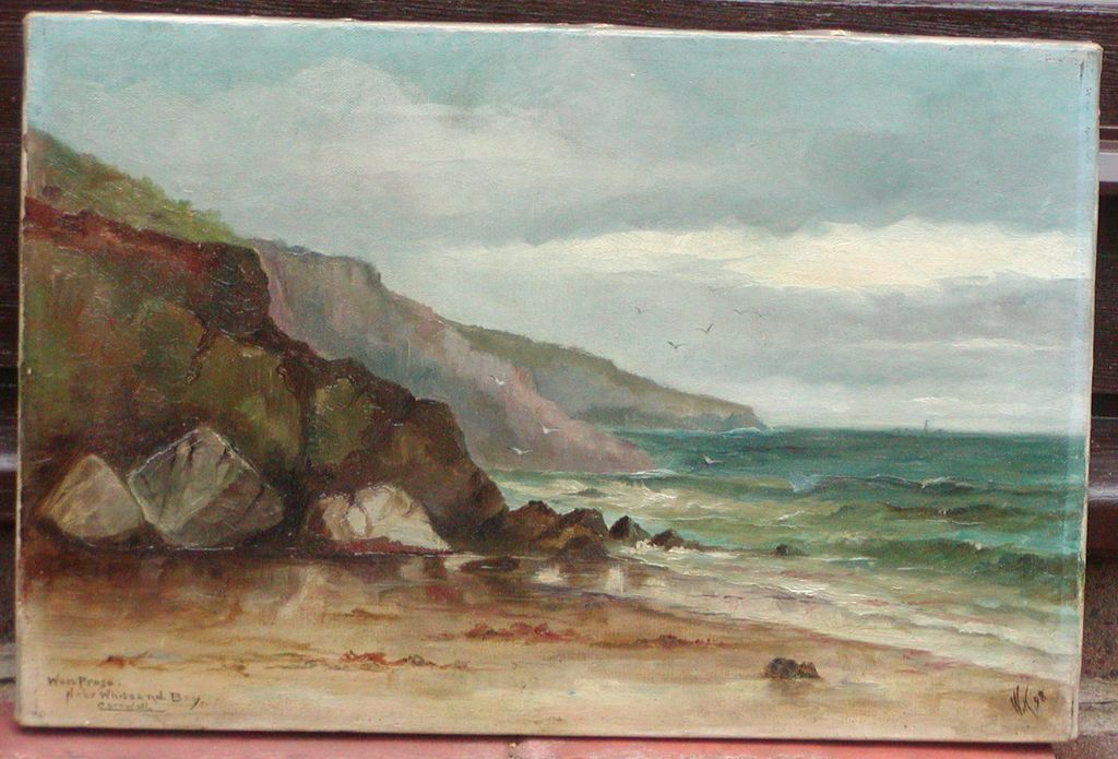 Oil painting of Cornwall..Coastal Cornwall scene..