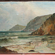 Cornwall painting..Coastal Cornwall oil painting..