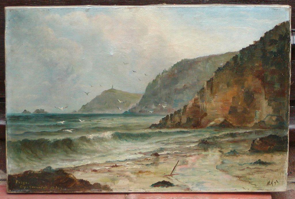 Cornwall painting..Coastal Cornwall oil painting..
