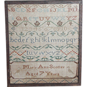 Needlework sampler 1808...Antique sampler...