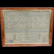 Needlework sampler 1839...Antique sampler... - Red Tag Sale Item