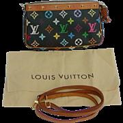 Louis Vuitton pouchette bag...Louis Vuitton Multi colored monogram pouchette bag...