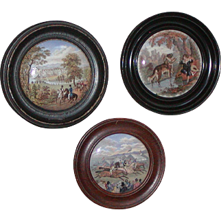 Pot lid...Three pot lids...Victorian pot lids...