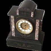 Clock...Mantel clock...Victorian slate clock...