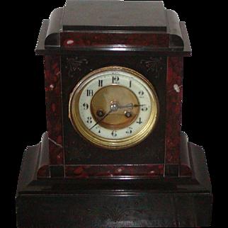 Clock...Victorian mantel clock....Antique clock....