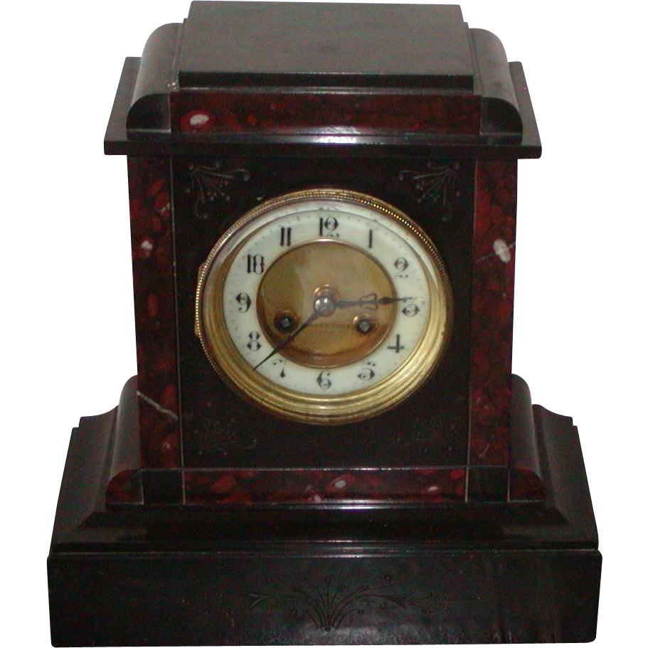 Clock...Victorian mantel clock....Antique clock....