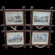 Hunting prints....Victorian hunting prints....
