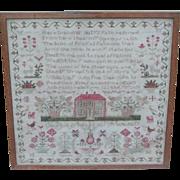 Sampler...Needlework sampler...Antique sampler 1842...