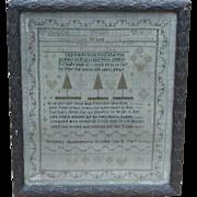 Sampler...Needlework sampler dated 1787...