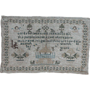 Sampler...Needlework sampler 1821...