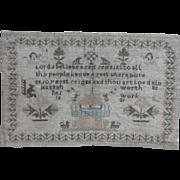 Sampler...Needlework sampler 1821...