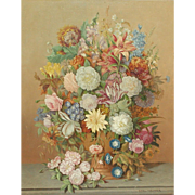 Still life painting...Flowers painting...Karl Heiner painting...