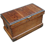 Tool chest...19th. Century tool chest...Trunk...Chest...