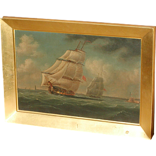 Ships painting...Galleons...Boats...Antique painting of ships...