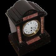 Clock...Mantel clock...Slate & marble Victorian clock...