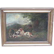 Dog painting...Pointer dog...Painting of dogs...
