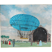 Airship...Painting of an Airship...Balloon...
