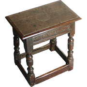 Joint stool...18th. Century joint stool...
