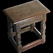 Joint stool...18th. Century joint stool...