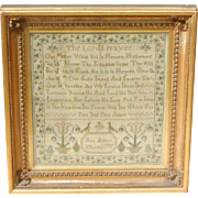 Sampler...Needlework sampler 1797... The Lords Prayer Sampler...