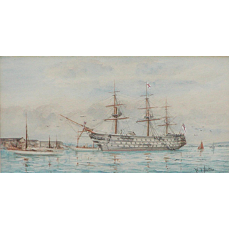Painting of a ship...Watercolor of a Galleon...
