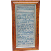 Sampler...Alphabet sampler...Needlework sampler dated 1854...