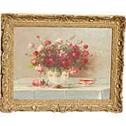 Roses...Painting of roses...Vase of roses painting...