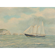 Ship painting...Painting of a sailing ship...