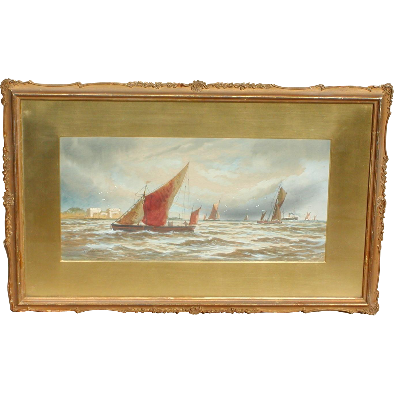Boats...Painting of boats...Sailing boats...