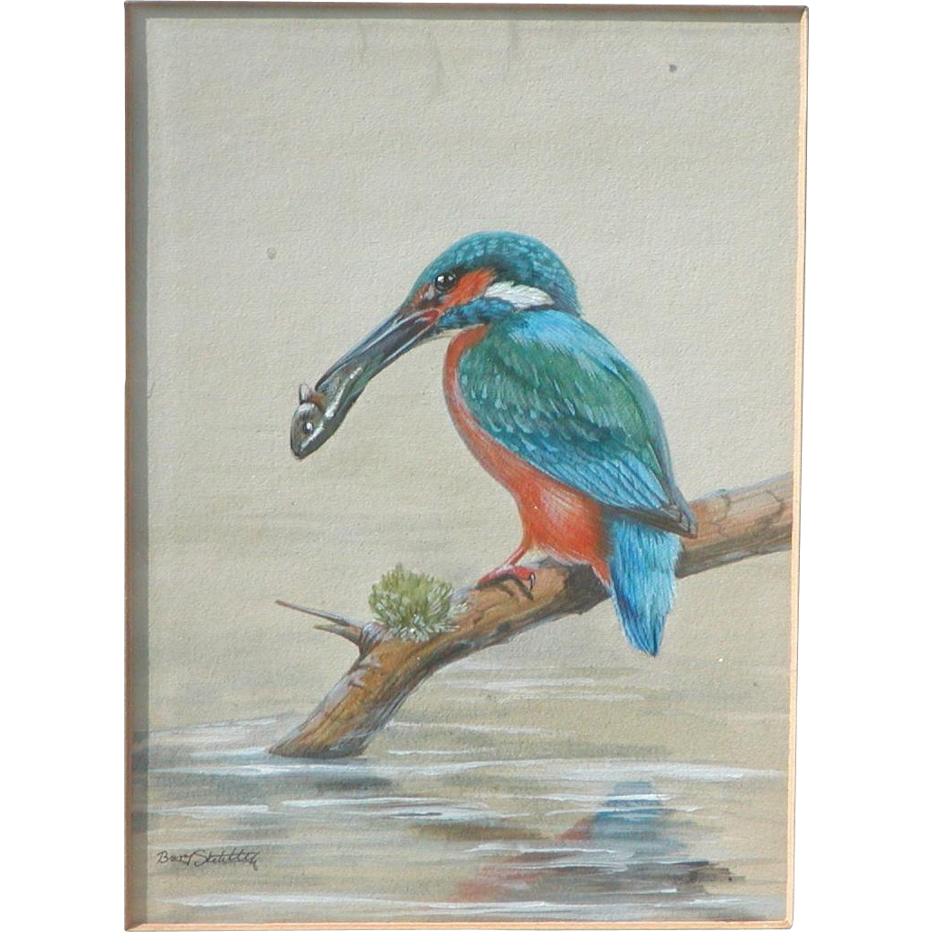 Kingfisher...Painting of a Kingfisher...Kingfisher painting...